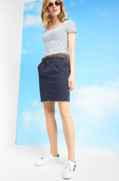 Minisukně s opaskem - Modrá Jeans Rock, Classy Outfits, Skirts, Shopping, Fashion, Classic Outfits, Woman Clothing, Mini Skirts, Chic