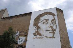 Vhils in Berlin - unurth   street art #streetart #art