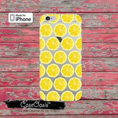 Lemon Slice Pattern Fruit Summer Cute Clear Rubber Phone Case For iPhone 6, iPhone 6 Plus, iPhone 5/5s, and iPhone 5c Transparent Clear Case