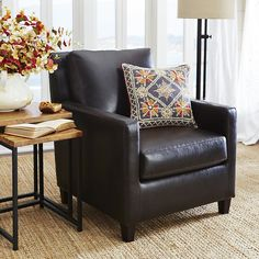 Hd Designs Morrison Accent Chair the coquilles saint jacques antique leather accent chair Darren Brown Club Chair