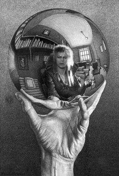 The Art of the Impossible: MC Escher and Me - Secret Knowledge Escher Kunst, Mc Escher Art, Labyrinth Movie, Reflection Art, Edgar Allen Poe, Edgar Allan, Allan Poe, Gcse Art, Art History