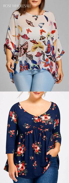 31 ideas sewing clothes women plus size blouses for 2019 Plus Size Blouses, Plus Size Tops, Plus Size Women, Plus Size Dresses, Plus Size Outfits, Curvy Fashion, Trendy Fashion, Plus Size Fashion, Womens Fashion
