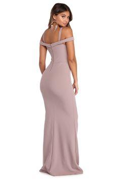 b47cf9d64e Larissa Off The Shoulder Formal Dress