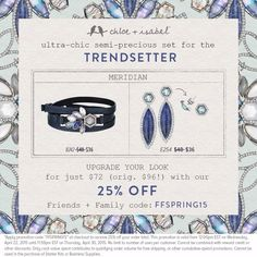 Don't forget about the FFSPRING15 coupon code good through this Thursday night! Also MOTHERS DAY is just 2 WEEKS AWAY! Need help finding something??? Message me, I WOULD LOVE TO HELP YOU!   Go to  https://www.chloeandisabel.com/boutique/pamelahammonds  #chloeandisabel #jewelry #armparty #boutique #summerstyle #mothersday