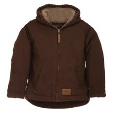C.E. Schmidt® Youth Sanded/Washed Duck Sherpa-Lined Hooded Jacket - Tractor Supply Co.