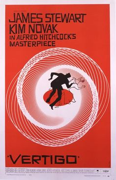 Vertigo Movie Poster by American Graphic Arts Legend, Saul Bass