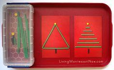 Montessori Monday - Montessori-Inspired Christmas Activities with Spielgaben {Free Printables}