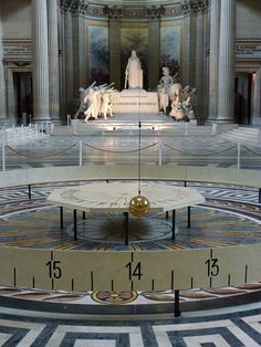 "Foucault's Pendulum - Pantheon, Paris. U. Eco's book (""Foucault's Pendulum) is a mind-blowing experience"