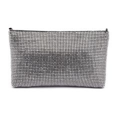 CLATON by I LOVE BILLY BAGS. This small zip top cross body bag has a sparkling glomesh upper, guaranteed to add glamour to any look. Carry it around comfortably or sling it across the body, the main compartment will hold your phone, wallet and any other essentials you may need. Features a detachable chain strap and top zip closure. Man-made upper and lining. H 14 cm x W 23 cm x D 2 cm. Phone Wallet, Cross Body, Carry On, Casual Shorts, Crossbody Bag, Essentials, Glamour, Closure, Zip