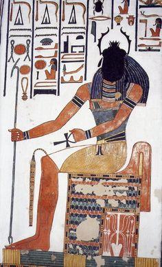 El dios Khepri con cabeza de escarabajo