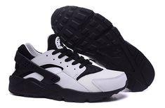 sports shoes d7350 5b5de nike trainer huarache air hurarache blanche et noir homme