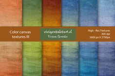 I just released Color canvas textures III on Creative Market.