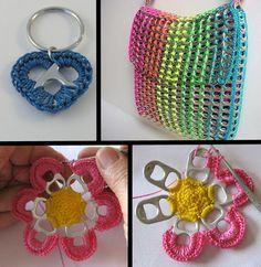 Cute pop tab crochet crafts!!   montagem 1