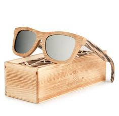 Polarized Square Wood Frame Sunglasses In Wooden Gift Box-Green,Blue,Yellow,Gray Wooden Sunglasses, Stylish Sunglasses, Wooden Gift Boxes, Wooden Gifts, Top Gifts For Women, Fashion Over 50 Blog, Blue Yellow Grey, Green Gifts, Handmade Design