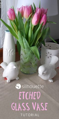 How to create custom etched vases using your Silhouette machine!