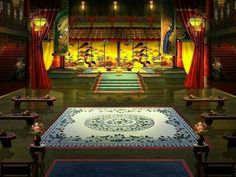 Chinese Buildings, Chinese Architecture, Beautiful Architecture, Fantasy Places, Fantasy World, Fantasy Art, Castle Bedroom, Episode Backgrounds, Japanese Castle