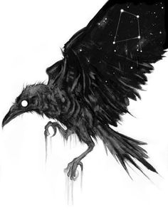 Sketch Book Grave Constellate, limited print - No. 1 edition, limited to in-house and signed with love :) Animal Paintings, Animal Drawings, Art Drawings, Dark Art Paintings, Crow Art, Raven Art, Arte Horror, Horror Art, Dessin Old School