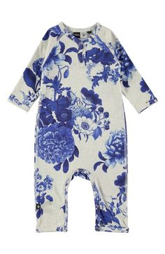 Free shipping and returns on molo 'Fiona' Romper (Baby Girls) at Nordstrom.com. A super comfy romper knit from soft, stretchy cotton jersey features a playful print.