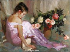Vladimir Volegov #Afternoon Ivory, oil on canvas, painted in 2008. #painting #volegov #art #oil #canvas
