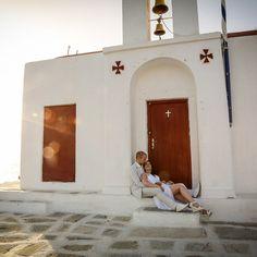 wedding at Mykonos Santorini Greece, Mykonos, Take The Opportunity, Anniversary Photos, Thessaloniki, Photo Sessions, Wedding Photography, Anniversary Pictures, Wedding Photos