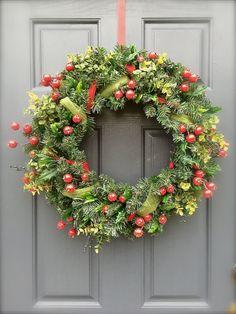Winter Berry Wreath Christmas Wreath with by WreathsByRebeccaB