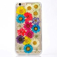 TPU Handmade Floral Real Pressed Flowers Phone Case Cover for iPhone 6 Personalized Dried Floral iPhone 6s Phone Case Acessory MOJUN http://www.amazon.com/dp/B01DVJJ9L2/ref=cm_sw_r_pi_dp_BPzfxb0T5TJ5T