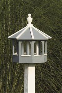 Amish Wooden Painted Gazebo Bird Feeder