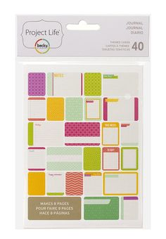 Project Life - Themed Cards 40-pack - Journal (97717)