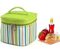 Insulated Lunch Bag Cooler & Square Lunch Box with Zipper Closure for Work, Men,Women Students Reusable Lunch Tote, Portable Picnic Travel Tote Lunch Bags (Green). For product & price info go to:  https://all4hiking.com/products/insulated-lunch-bag-cooler-square-lunch-box-with-zipper-closure-for-work-menwomen-students-reusable-lunch-tote-portable-picnic-travel-tote-lunch-bags-green/