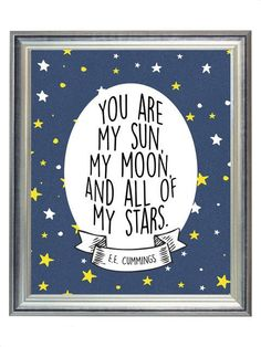 You Are My Sun, My Moon, & All of my Stars Outer Space Nursery Digital Print Art, Print for Baby Kid Room, Wall Art Decor Baby Bedroom, Baby Boy Rooms, Baby Boy Nurseries, Bedroom Boys, Kids Rooms, Kid Bedrooms, Play Rooms, Baby Boy Bedroom Ideas, Room Baby