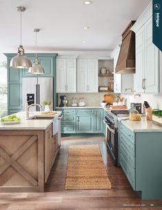Farmhouse Kitchen Cabinets, Modern Farmhouse Kitchens, Kitchen Cabinet Design, Kitchen Cabinetry, Country Kitchen, Home Kitchens, Island Kitchen, Small Kitchens, Rustic Farmhouse