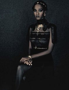 "hellyeahblackmodels: ""A Unique Style"" - Vogue Italia September..."