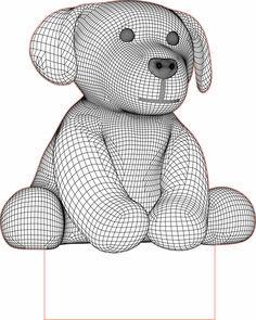 Dog 3d illusion LED lamp vector file
