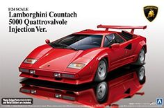 1/24 Super Car Series No.18 Lamborghini Countach 5000QV 1988 Model Car  $117.41 (as of November 30, 2016, 4:23 pm)  Parallel import goods The trademarks copyrights and design rights in and associated with following Lamborghini vehicles Aventador 50th AventadorRoadsterCountachCountach 5000QV Countach LP400S are used under licence from Automobili Lamborghini S.p.A. Italy.Countach Countach 5000QV Countach LP400S are used under licence from Automobili Lamborghini S.p.A. Italy.