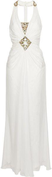 Vega Embellished Silk-chiffon Gown - Lyst