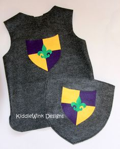 Boys Knight Costume  tunic and shield by KiddieWinkDesigns on Etsy, $24.00