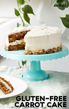 This classic carrot cake is so flavorful, so moist, and so chock-full of goodness. Gluten Free Carrot Cake, Gluten Free Cakes, Gluten Free Desserts, Gluten Free Recipes, Carrot Cakes, Gf Recipes, Recipies, Healthy Recipes, Cake Recipes