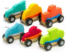 ModMobiles and over 7,500 other quality toys at Fat Brain Toys. Each ModMobile is made up of a real wood chassis with rubber wheels, two plastic runners, and three uniquely shaped foam body pieces, all of which can be switched out and mixed up. It's an endless roadway of creative fun!