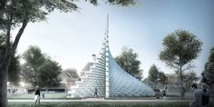 """Bjarke Ingels' Serpentine Gallery Pavilion 2016 conceived as an """"unzipped wall"""""""