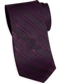 Wilke Rodriguez Purple Tonal Stripe Skinny Tie