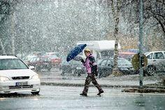 Alkukesän sää on epävakainen. Kuva on vuodelta 2011, jolloin takatalvi yllätti.