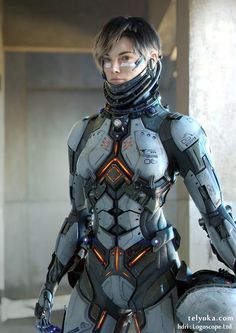 Female body armor - by tel yuka - art station - Suit Of Armor, Body Armor, Ishikawa, Armadura Sci Fi, Science Fiction, Character Design Challenge, Yuka, Futuristic Armour, Futuristic Art