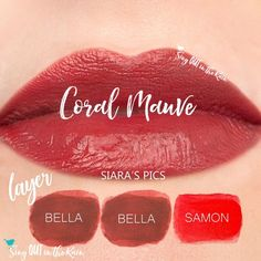 Learn to mix it up. Use LipSense Mixology to create this Coral Mauve LipColor by layering Bella and Samon.  Click thru to purchase yours NOW! #lipsense #mixitup
