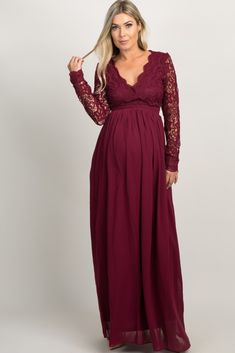 PinkBlush - Where Fashion Meets Motherhood Burgundy Maternity Dress, Green Maternity Dresses, Maternity Bridesmaid Dresses, Burgundy Bridesmaid Dresses Long, Long Sleeve Maternity Dress, Maternity Dresses For Baby Shower, Burgundy Dress, Pink Blush Maternity, Evening Gowns Images