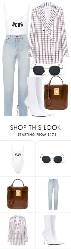 """#1237"" by dayal-may on Polyvore featuring GCDS, Mark Cross, Yves Saint Laurent, Thom Browne and Balenciaga"