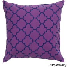 Rizzy Home 18-inch Quatrefoil Throw Pillow                                                                                                                                                                                 More
