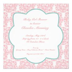 Floral Medallion Invitation- Pinkhttp://www.zazzle.com/floral_medallion_invitation_pink-161524579892451039