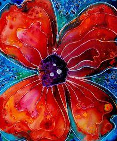 Bloom Painting by Sharon Cummings - Bloom Fine Art Prints and Posters for Sale #art #sharoncummings #flowers