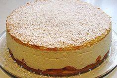 Kase Sahne Torte - (recipe is in written in English) German Desserts, Desserts To Make, Cookie Desserts, Delicious Desserts, Yummy Food, German Recipes, Tasty, German Torte Recipe, German Bakery
