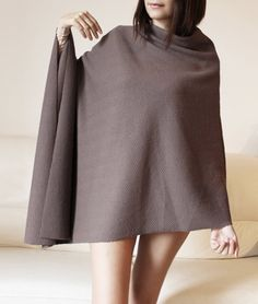 Wool silk poncho christmas gift idea dark by Afycollection on Etsy